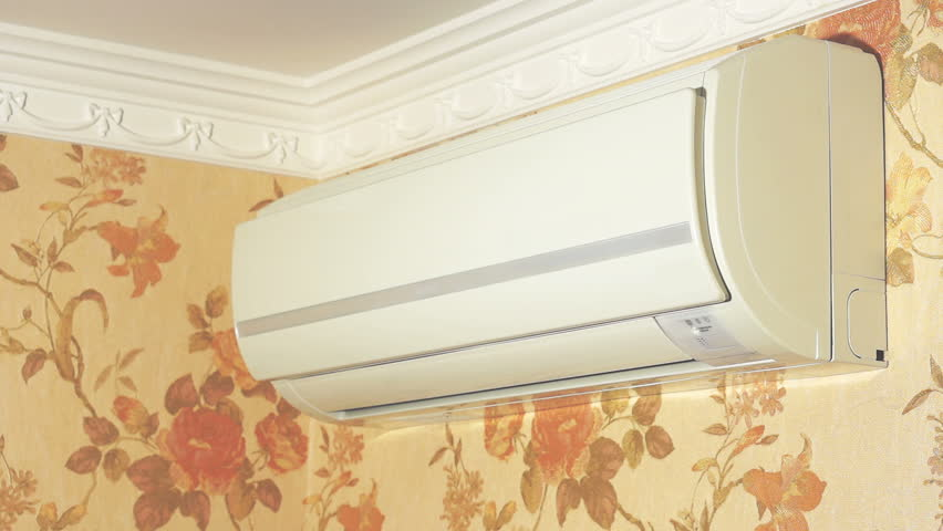 Switching on air conditioner and operation process
