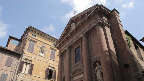 Chiesa di San Cristoforo on Piazza Tolomei, Siena, Tuscany, Italy, Europe - August 2014