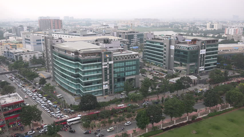 Overview of 'Whitefield', a large technology district in Bangalore, India.