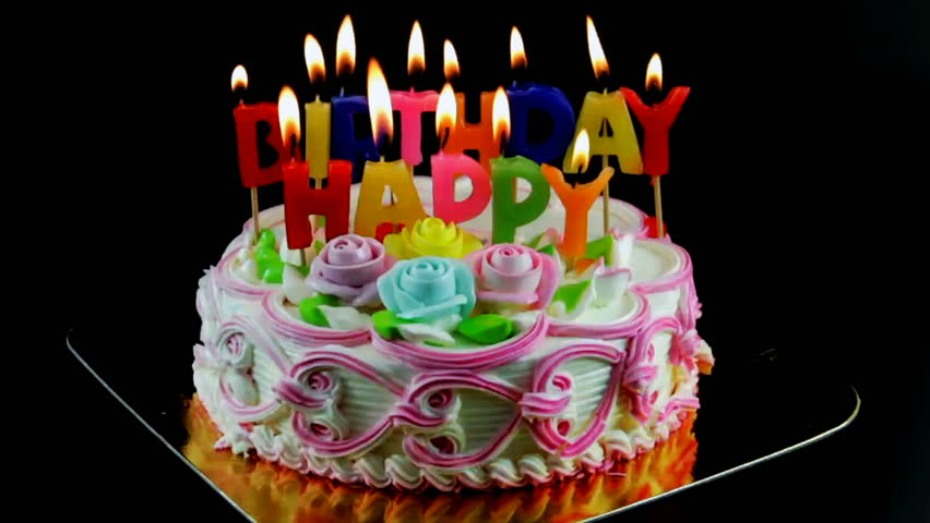 Strange Birthday Cake And Candles Time Stock Footage Video 100 Funny Birthday Cards Online Elaedamsfinfo