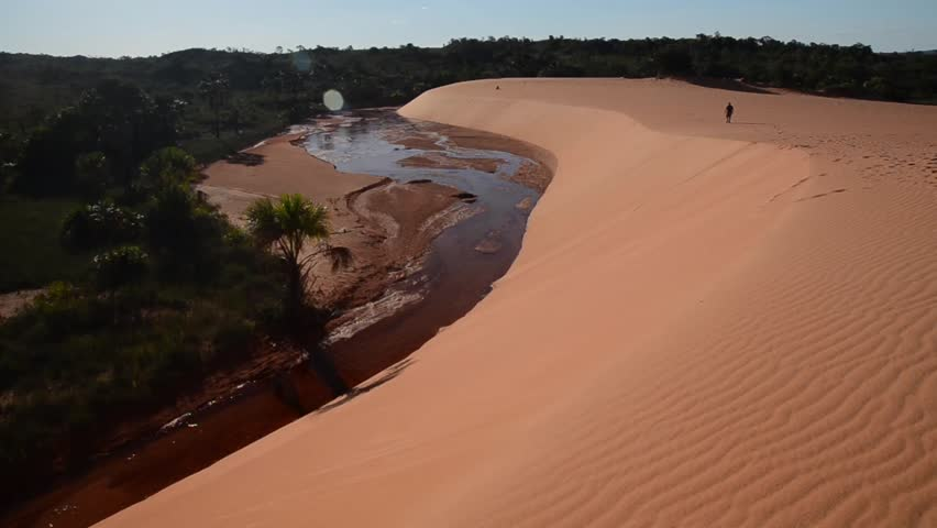 Dunes in Brazilian Jalapão State Park - Tocantins - Brazilian conservation unit strictly protected nature