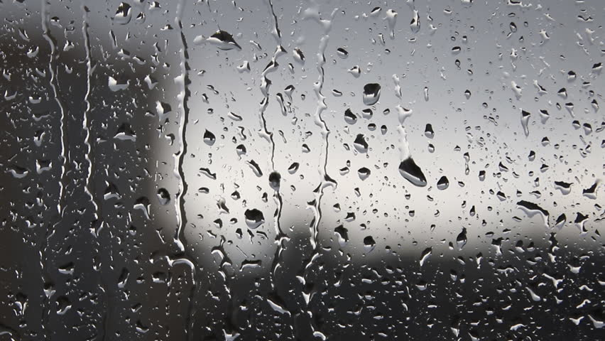 Rain Drops On The Glass Stock Footage Video 100 Royalty Free 9634256 Shutterstock