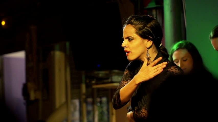 03.11.2014 - Seville, SPAIN: Beautiful woman dancing flamenco during show, slow motion - EDITORIAL  | Shutterstock HD Video #9674903