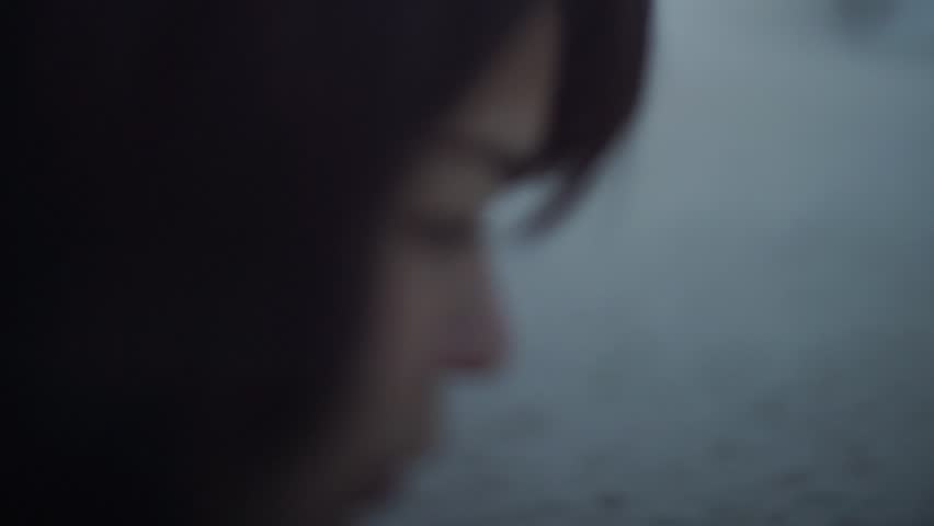 Portrait of young Japanese woman at a city beach, Tokyo, Japan | Shutterstock HD Video #9698687