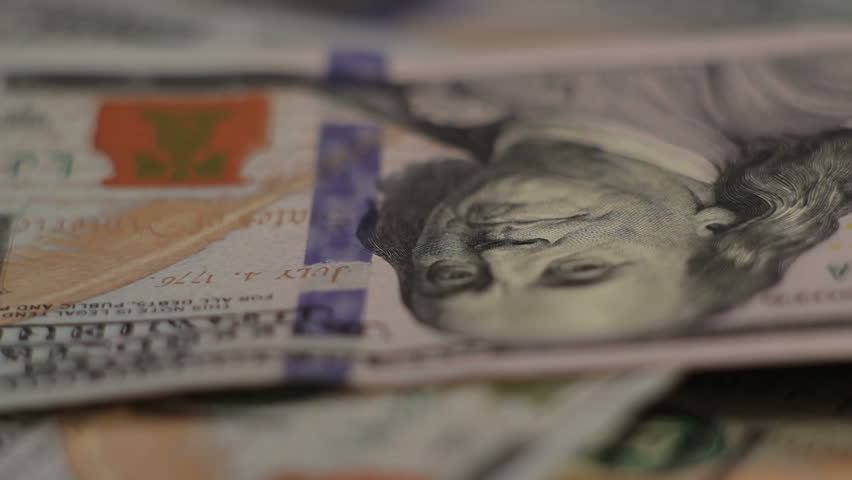 Money Dollars rotate on the table. close-up | Shutterstock HD Video #9700097