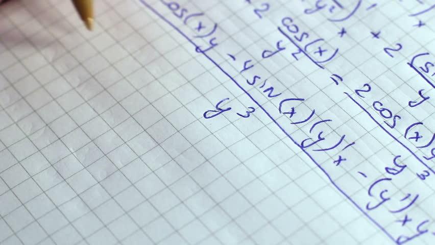 Writing Formulas Of Mathematics 2   Shutterstock HD Video #9703799