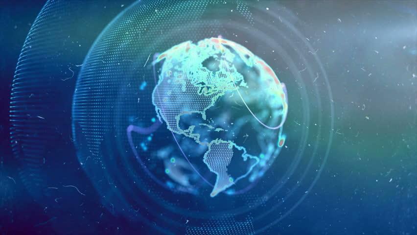 Digital Globe 4k, Futuristic digital blockchain background, fintech technolog #9705485