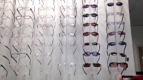 Burnaby, BC, Canada - April 21, 2015 : Close up display eye glasses