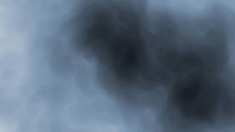 digital perfectly seamless loop of smoke slowly floating through space against black background