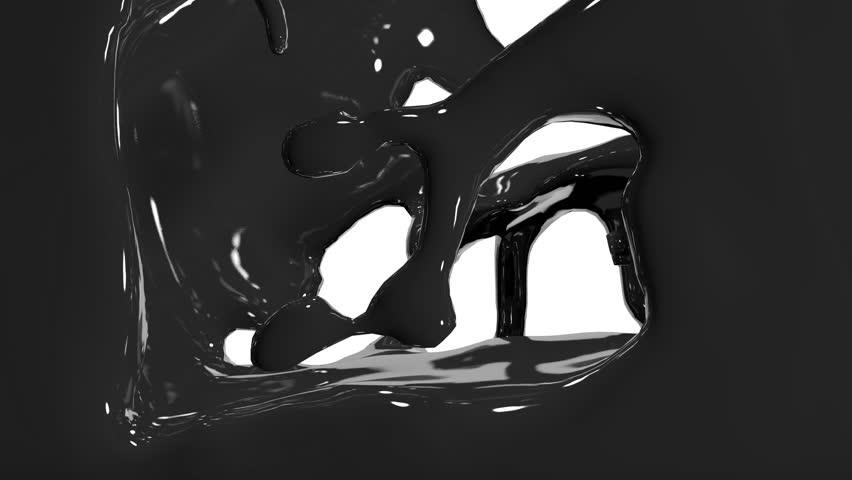 Paint fills up screen.  fluid flows down . Pouring  screen. liquid fills screen   Shutterstock HD Video #9756524