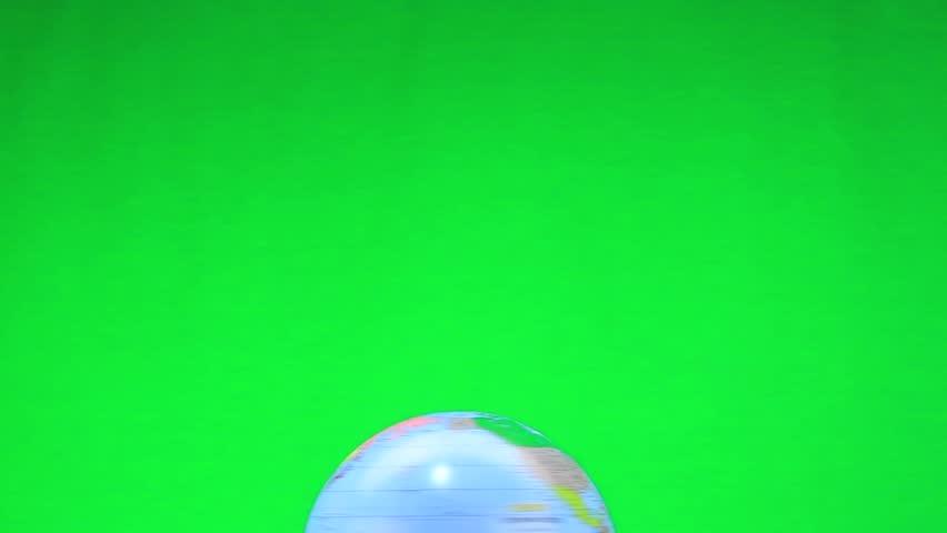 White pigeon on globe, green screen | Shutterstock HD Video #9758804