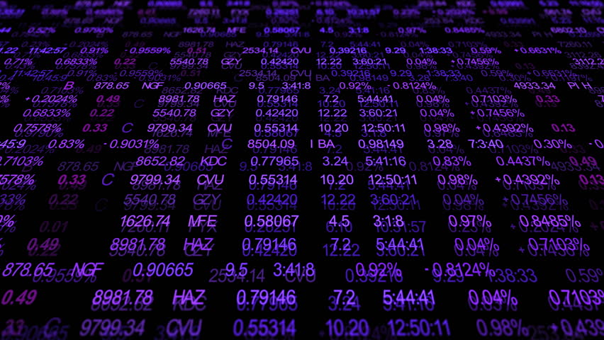 Finance or stock market background with digits, arrows and percents  | Shutterstock HD Video #9773420