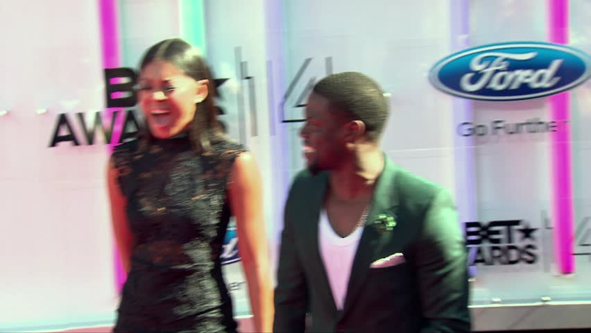 Los Angeles, CA - June 29,2014: Kevin Hart and Eniko Parrish at BET Awards 2014, Nokia Theatre | Shutterstock HD Video #9781079