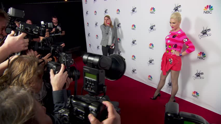 Los Angeles, CA - December 08,2014: Gwen Stefani at The Voice Season 7 Top 5 Party, Hyde Sunset