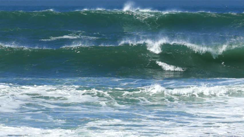 Waving Atlantic ocean.4K, slow motion, high speed camera | Shutterstock HD Video #9794846