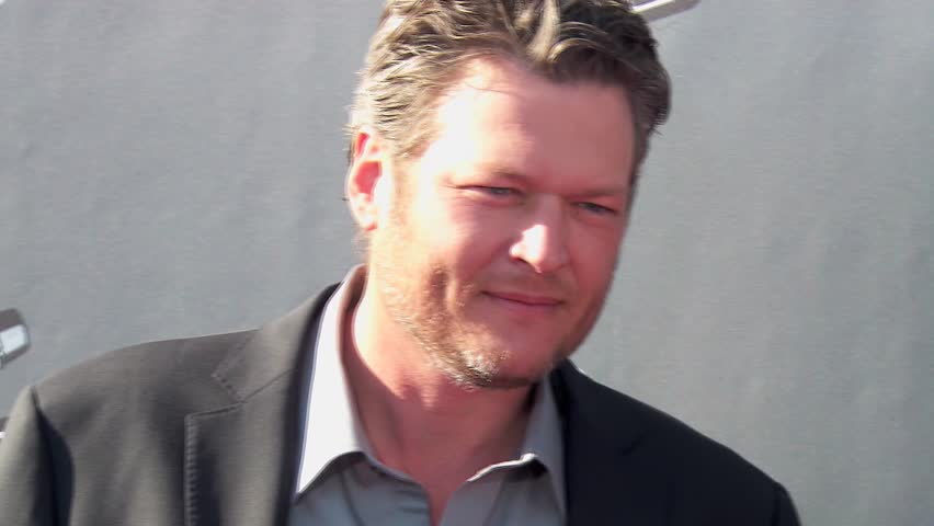 Los Angeles, CA - April 03,2014: Blake Shelton at The Voice Season 6 Red Carpet Event, The Sayers Club