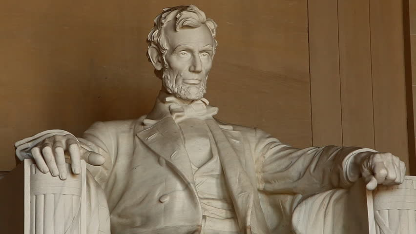 Abraham Lincoln  Memorial Monument Statue reveal, Washington DC, National Mall.