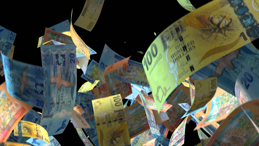 Falling Finland money banknotes