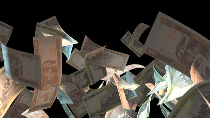 Falling Eritrea money banknotes Video Effect simulates Falling Mixed Eritrea Money banknotes with alpha channel (transparent background) in 4k resolution  | Shutterstock HD Video #9910391