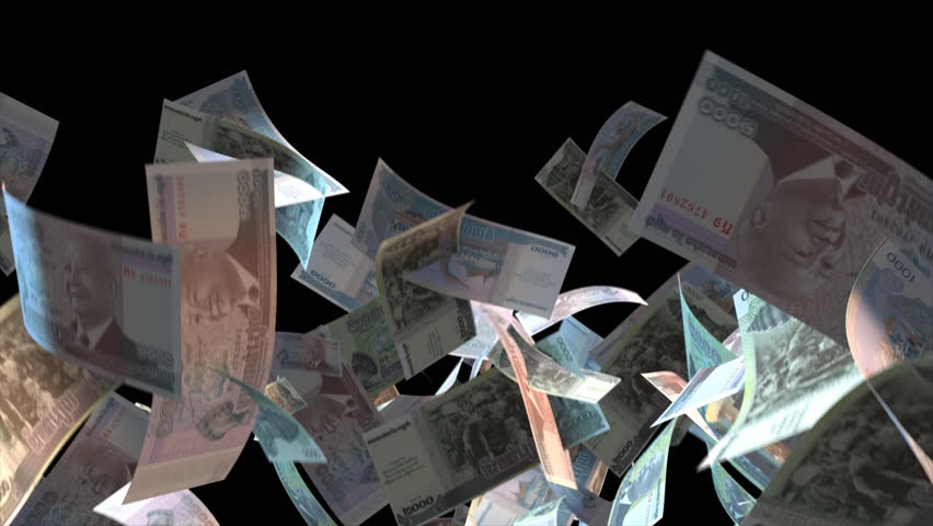 Falling Cambodia money banknotes Video Effect simulates Falling Mixed Cambodia Money banknotes with alpha channel (transparent background) in 4k resolution  | Shutterstock HD Video #9922094