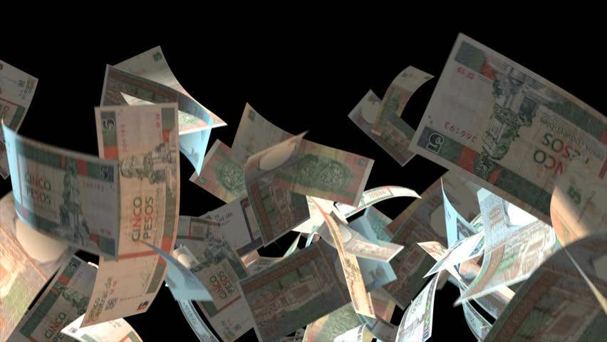 Falling Cuba money banknotes  Video Effect simulates Falling Mixed Cuba money banknotes with alpha channel (transparent background) in 4k resolution  | Shutterstock HD Video #9922112