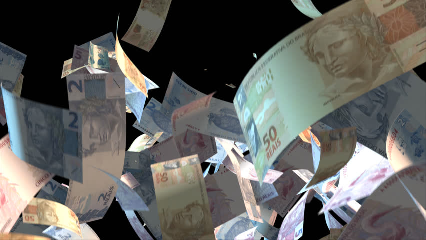Falling Brazil money banknotes Video Effect simulates Falling Mixed Brazil Money banknotes with alpha channel (transparent background) in 4k resolution  | Shutterstock HD Video #9922175