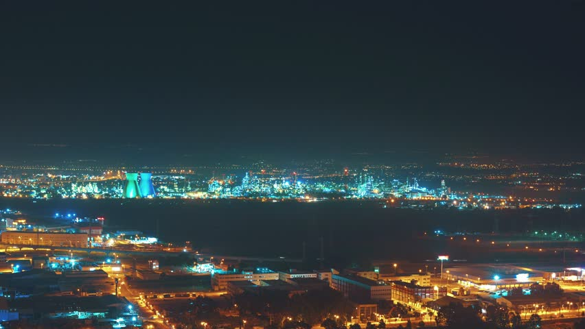 Haifa, Israel Night Panorama 4K Timelapse   Shutterstock HD Video #9967217
