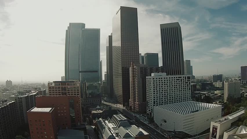 Aerial of Downtown Los Angeles Financial District  | Shutterstock HD Video #9987002
