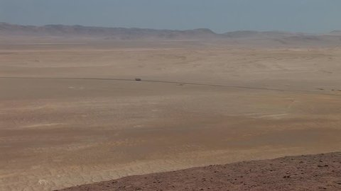 Video footage of the desert in the the Paracas National Park in Peru in 2007